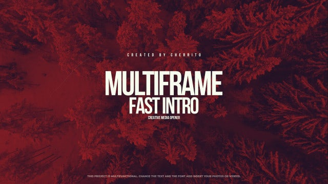 Fast Multiframe Intro: After Effects Templates