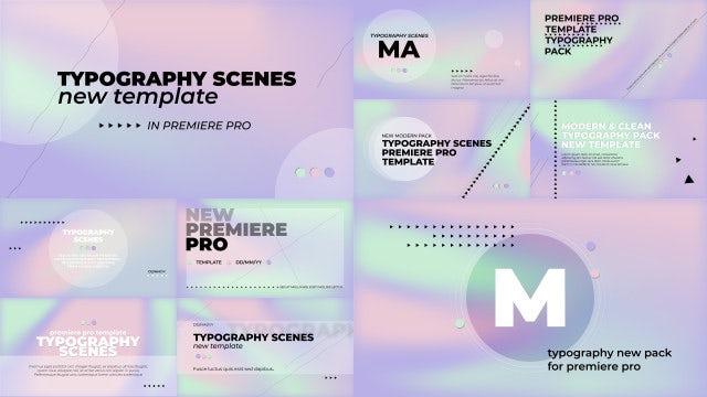 Typography Scenes Hologram Pack: Premiere Pro Templates