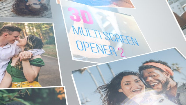 3D Multi Screen Opener 2: After Effects Templates