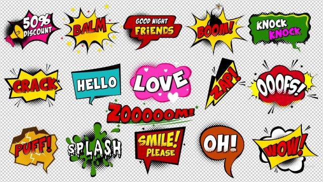 Comic Speech Bubbles: Stock Motion Graphics