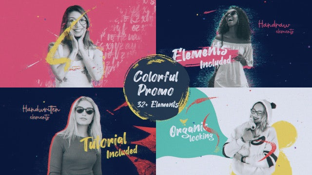 Colorful Paint Promo: After Effects Templates