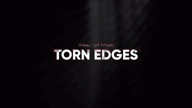 Titles Animator - Torn Edges: Final Cut Pro Templates