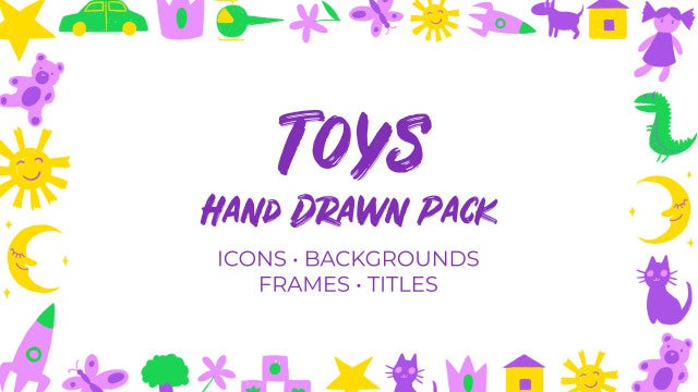 Toys Hand Drawn Pack: Premiere Pro Templates