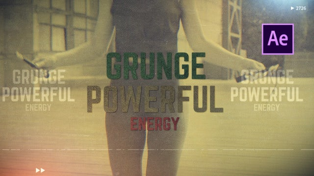 Rock Power - Grunge Opener: After Effects Templates