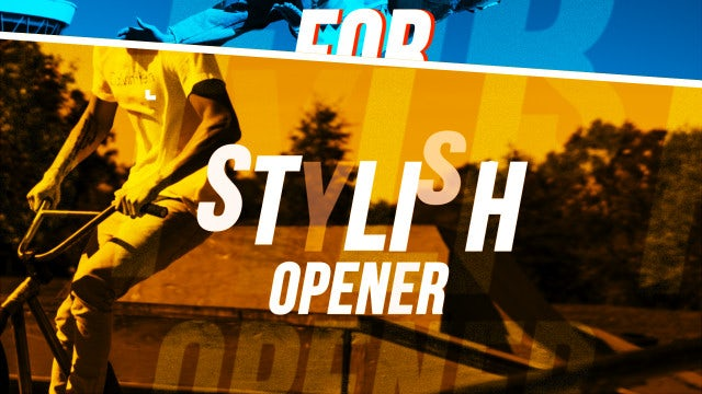 Stylish Hip Hop Opener: After Effects Templates