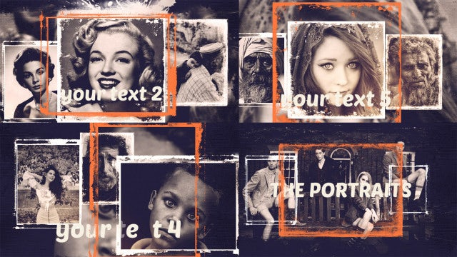 The Portraits Opener: After Effects Templates