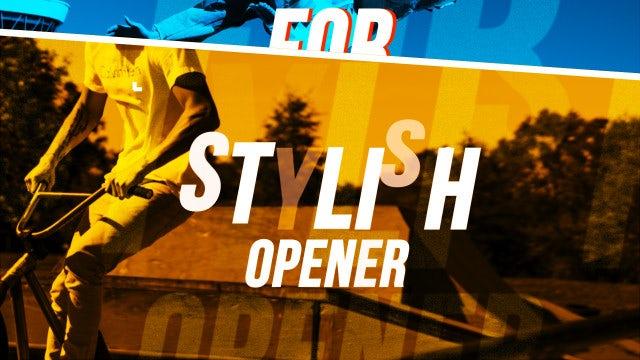 Stylish Hip Hop Opener: Premiere Pro Templates
