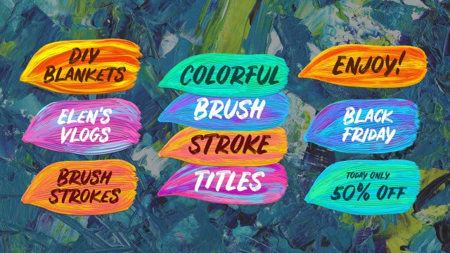 Colorful Brush Strokes: Premiere Pro Templates