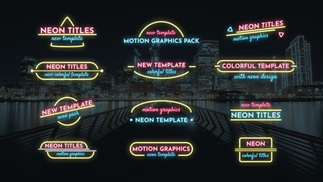 Lower Thirds Neon Pack: Motion Graphics Templates