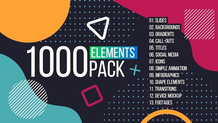 1000 Elements. Graphics Tool Pack. – Premiere Pro Templates | Motion Array Free Download