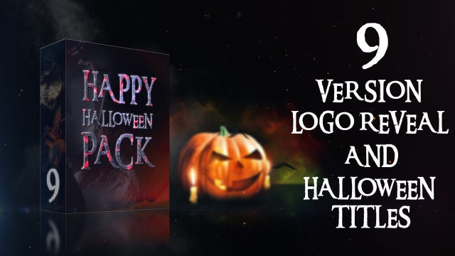 Happy Halloween Pack: After Effects Templates
