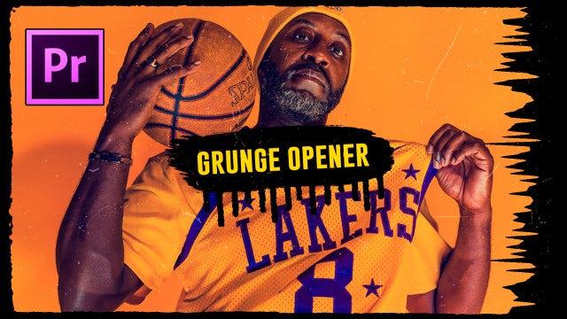 Short Grunge Opener: Premiere Pro Templates