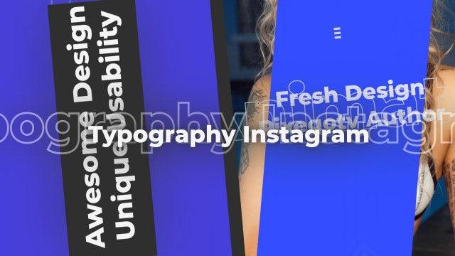 Typography Instagram: Premiere Pro Templates