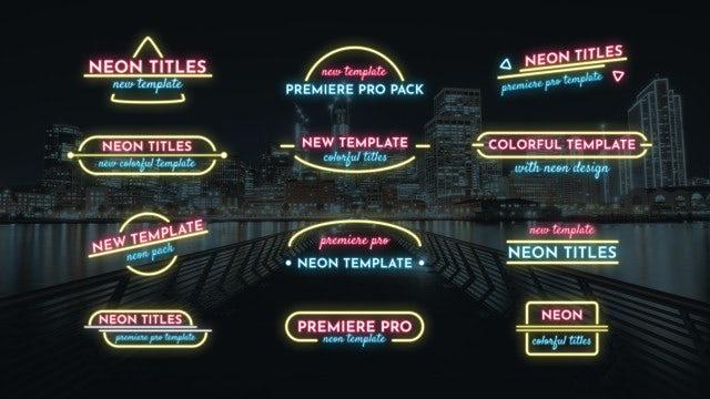 Lower Thirds Neon Pack: Premiere Pro Templates