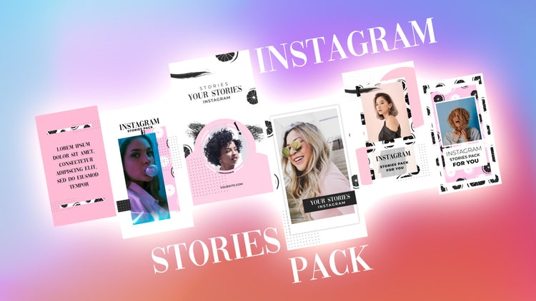 Instagram Stories Pack 24: After Effects Templates