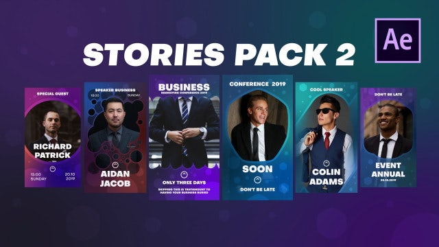 Stories Pack 2: After Effects Templates
