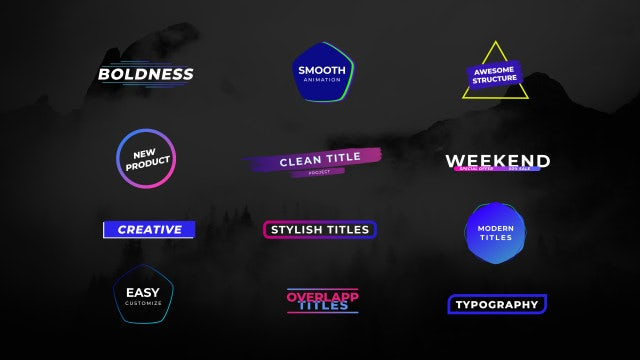 Creative Titles: Motion Graphics Templates