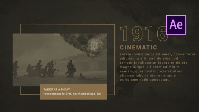 Z-Day History Slideshow: After Effects Templates