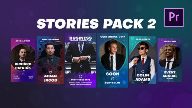 Stories Pack 2: Motion Graphics Templates