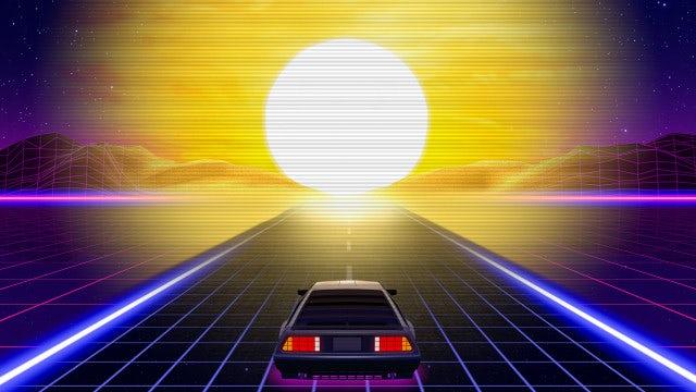 80's Retro Futuristic Car: Stock Motion Graphics