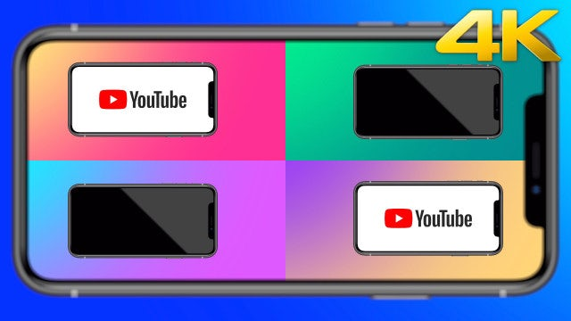 YouTube On Phone: Stock Motion Graphics
