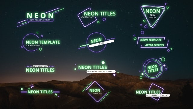 Neon Titles: After Effects Templates