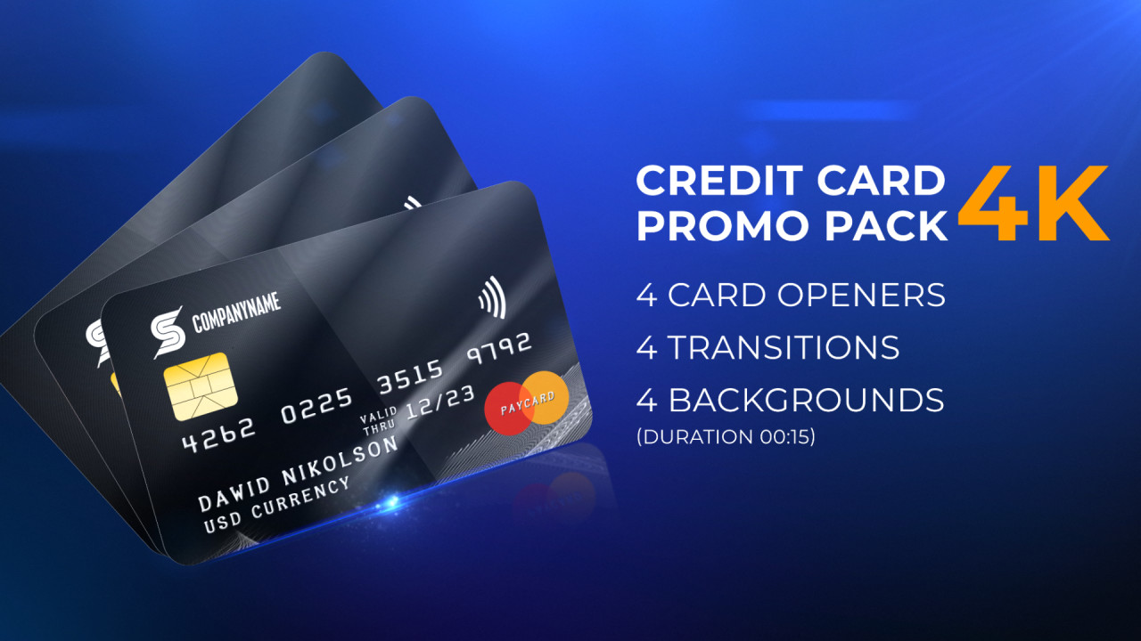 Credit Card Promo Pack - After Effects Templates Motion Array
