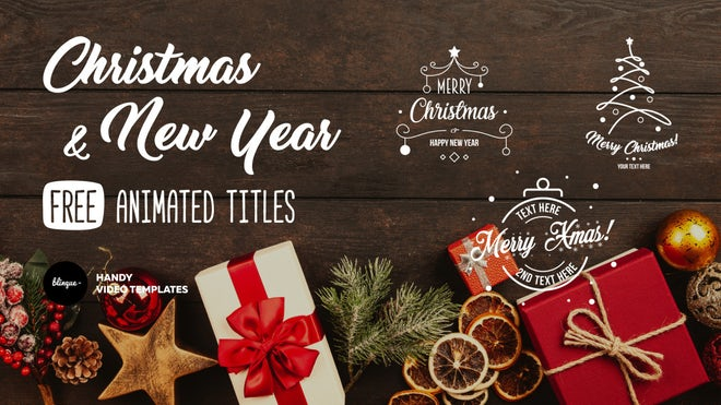 Free Christmas Card After Effects Templates Motion Array
