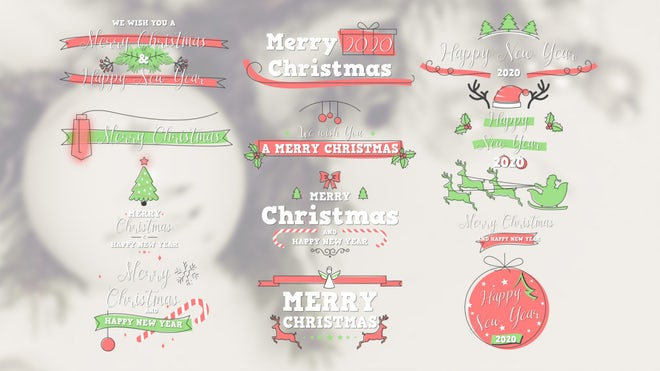 Free Christmas And New Year Titles Pack After Effects Templates Motion Array
