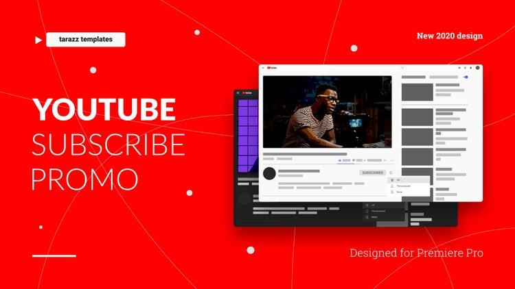 Youtube Subscribe Promo V 2.0: Premiere Pro Templates