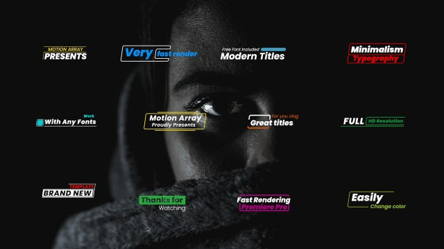 Simple Modern Titles Pack: Premiere Pro Templates