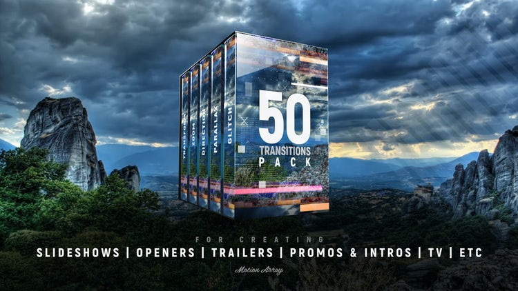 50 Transition Pack: Premiere Pro Templates
