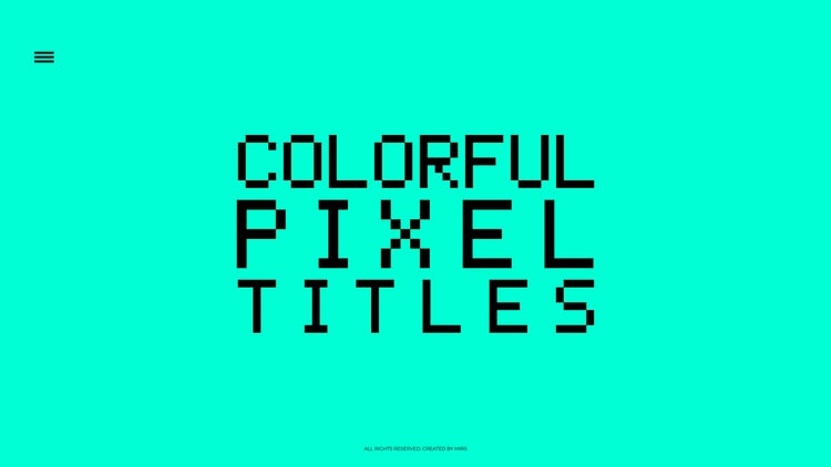 Colorful Pixel Titles – Premiere Pro Templates | Motion Array Free Download