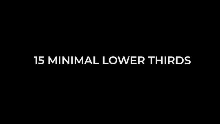 Minimal Lower Thirds – Final Cut Pro Templates | Motion Array Free Download