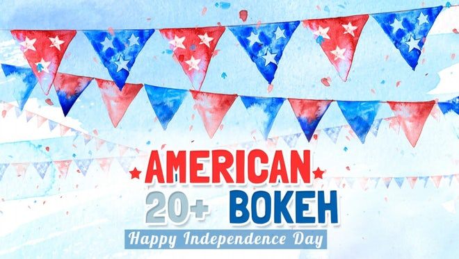 American Bokeh Background Pack: Stock Motion Graphics