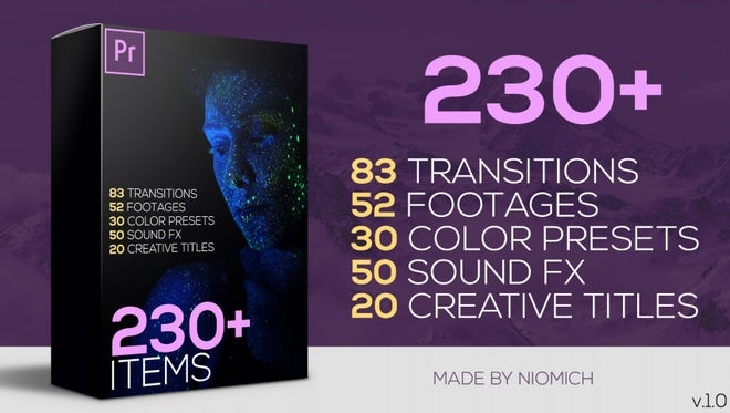 230+ Premiere Pro Elements Big Pack: Premiere Pro Templates