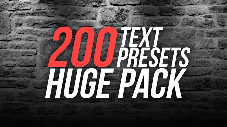 Big Text Presets Pack: After Effects Presets