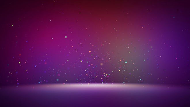 Colorful Particles Rising Background: Stock Motion Graphics