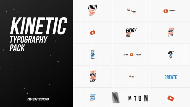 Social Media Typography Pack: After Effects Templates