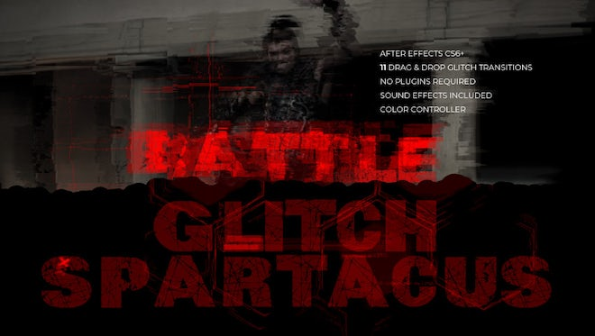 Glitch Spartacus: After Effects Templates