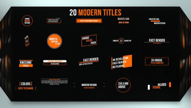 Just Titles: After Effects Templates