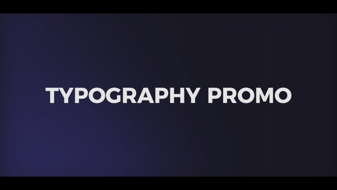 Dynamic Typography Promo: Premiere Pro Templates