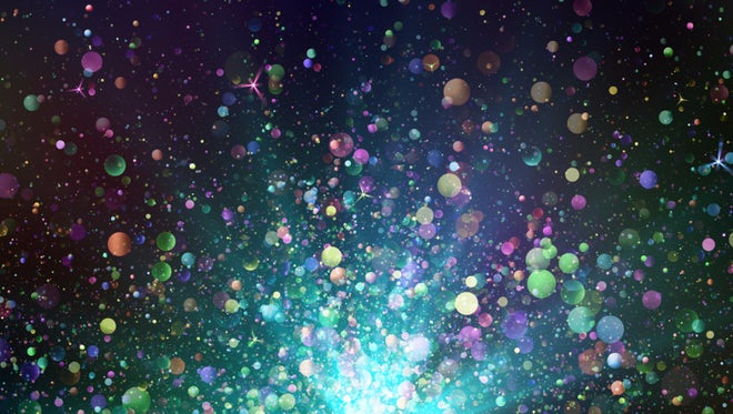 Colorful Glitter Particles Background: Stock Motion Graphics
