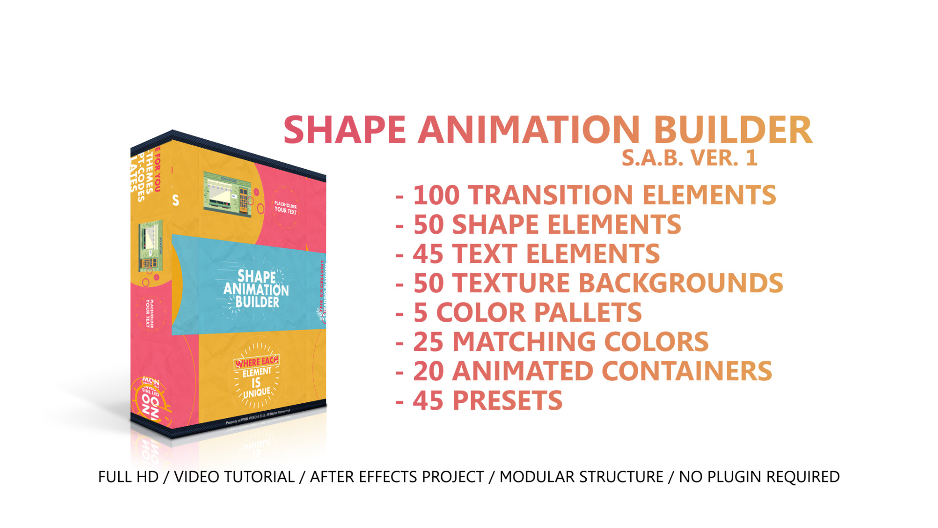 Shape Animation Builder - After Effects Templates | Motion Array