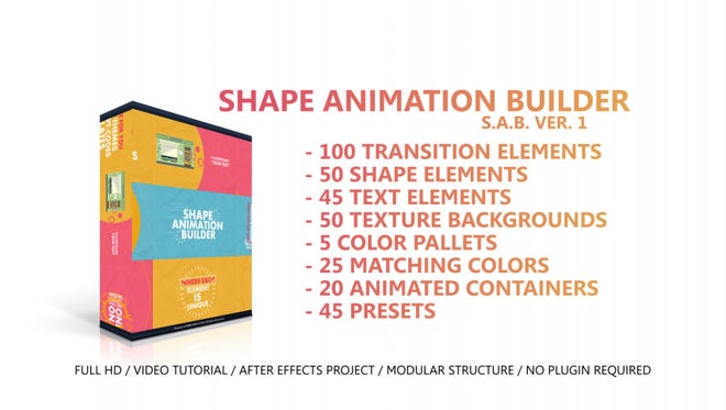 Shape Animation Builder: After Effects Templates