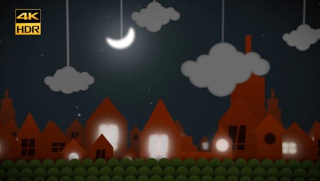 Animated Night City Background : Stock Motion Graphics