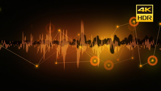 Audio Spectrum Connection Background: Stock Motion Graphics