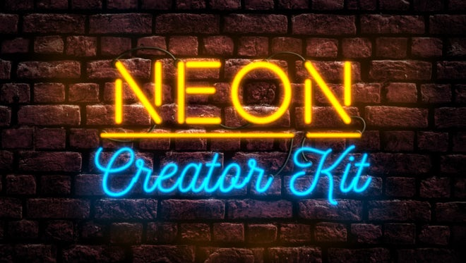 Neon Sign Creator Kit: After Effects Templates