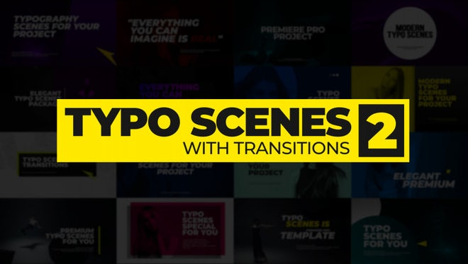 Typo Scenes With Transitions 2: Premiere Pro Templates