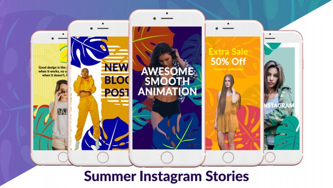 Summer Instagram Stories: After Effects Templates